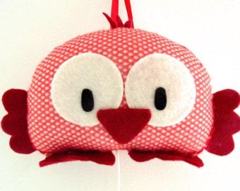 music box happy bird (red)