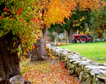 Limited Edition ~ Cucumber Hill Farm, Foster, Rhode Island, Autumn, Fall, Foliage, Waterfall, Fine Art Canvas, New England