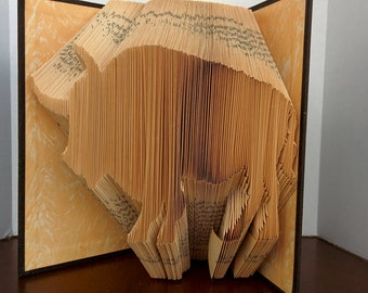 Buffalo - Folded Book Art - Fully Customizable, bison, animal