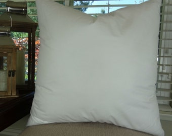 "24x24 Pillow Insert - Made in USA Hypoallergenic Down Alternative Polyfill - 24"" x 24"" pillow insert for a 22"" x 22"" pillow cover"
