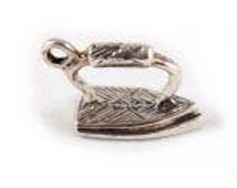Sterling Silver Antique Iron Charm