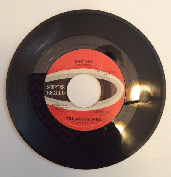 The Guess Who One Day And Clock On The Wall Vintage Vinyl 45