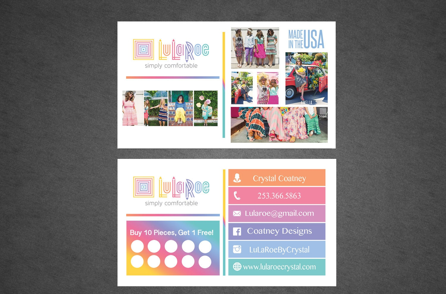 Lularoe business card full color professionally by for Etsy lularoe business cards