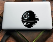 Death Star Vinyl decal for MAC or PC sticker print perfect gift for any computer fan! Star Wars Sith Lord The Force Apple