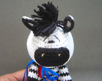 Little Crochet Zebra. Amigurumi