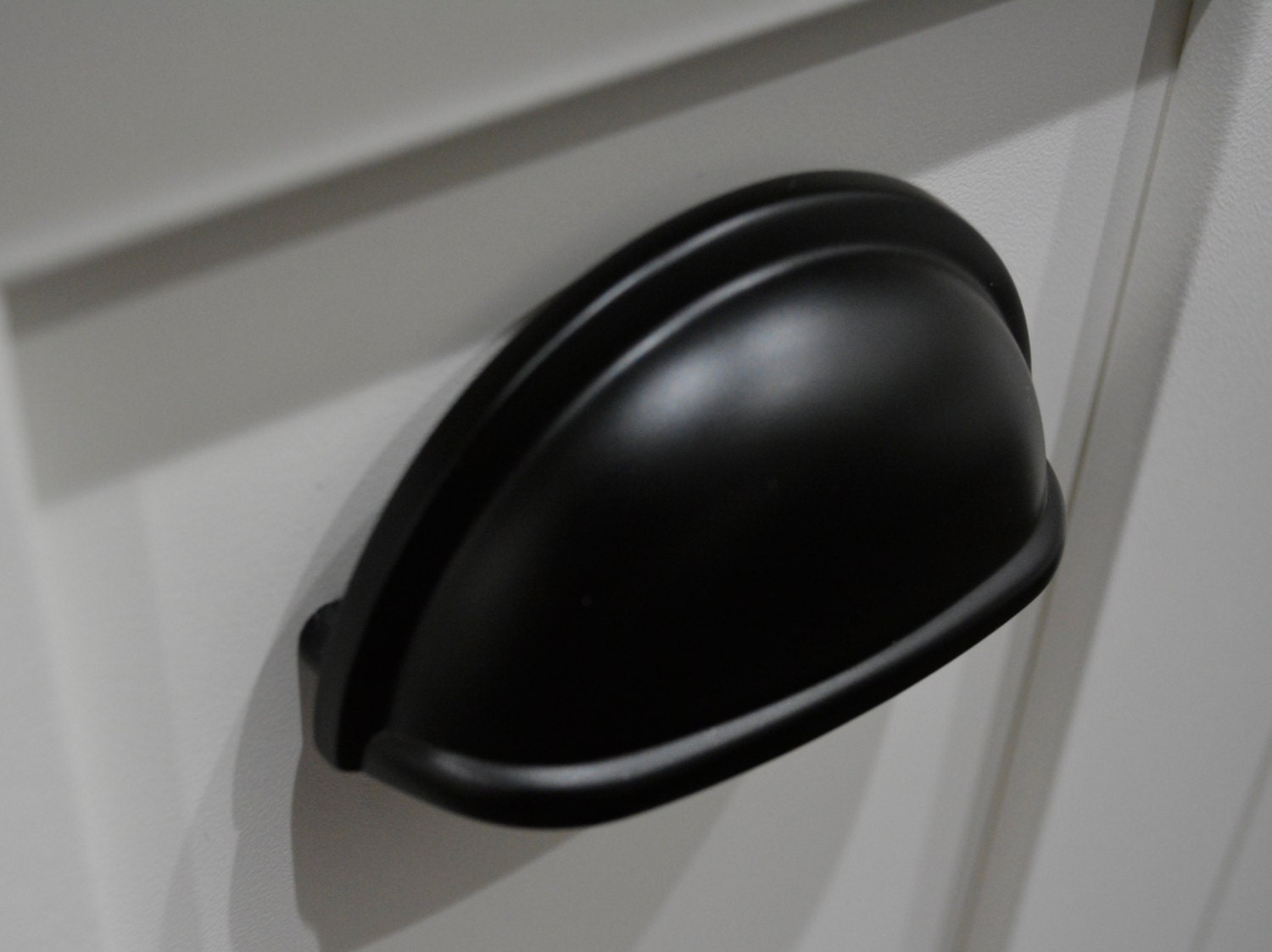 Matte Black Cup Pull Drawer Cup Pull 3inch Cup Pull Chrome