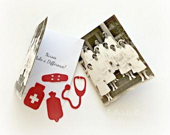 Nurse Card, Vintage Nurse Card, Nurse Graduation Card, New Nurse Card, Retirement Nurse Card, Get Well Soon Card