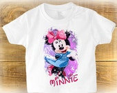 Minnie Mouse Toddlers T Shirt Cute Baby Gift Toddler Disney Shirt Personalised Birthday Gifts For Kids