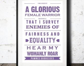 Pawnee Goddesses Poster