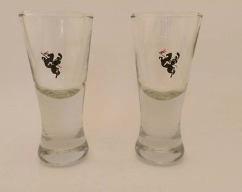 Vintage Pair of Knight Shot Glasses
