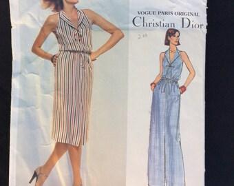 reserved Christian Dior, Vogue Paris Original Pattern 1648 , Vintage Pattern, Sewing Pattern, Vintage Dress, Size 14