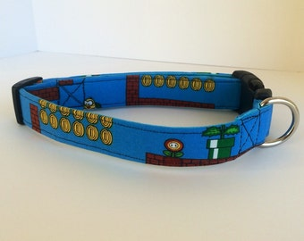 Large Super Mario Bros. Dog Collar