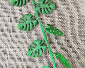 Tropical Leaf Green Trim, May Arts