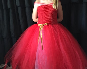 Princess Elena costume, Elena tutu dress, Halloween, Princess costume, red Princess dress, Elena dress costume, Princess gown, princess