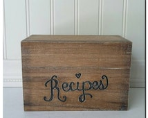 Engraved Recipe Box, Custom, Personalized, Heritage, (REC101ST)