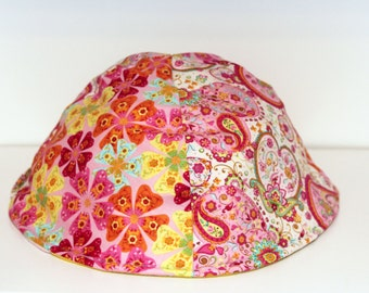 Hedgehog Hut, Large Hedgie Hat Burrow, Rat Dome - Pink Paisley Hearts and Flowers