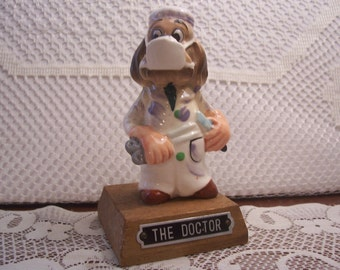 Cute Dog Dressed As A Doctor Figurine