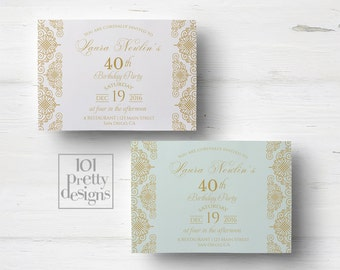 birthday invitations template