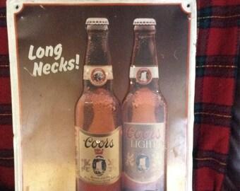 Coors metal beer sign