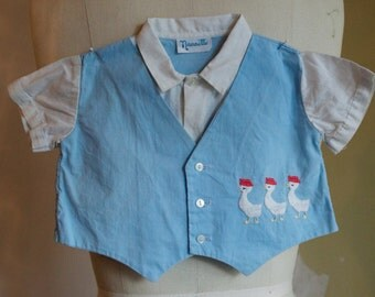 Sweet Vintage Embroidered Baby Shirt