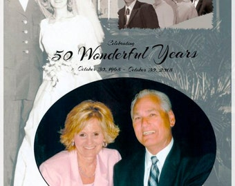 Personalized Gifts - 50th Anniversary, Birthday, Mother's Day, Father's Day...you decide the Memory to Renew