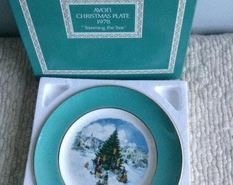 Avon Christmas Plate 1978