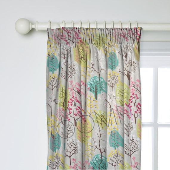 Scandinavian Curtains Tree Curtains Custom By Oomfinteriors