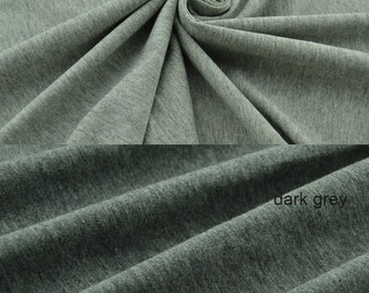 Odell Fabric, Solid Cotton Knit  Fabric blended Odell, Stretch Fabric, Navy Black Grey,Good for Summer clothes - 1/2 Yard