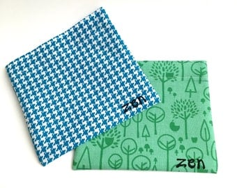 Reusable Snack Bags, set of 2, Choice of Fabric