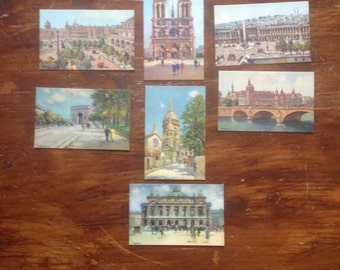 Fench postcard collection of seven