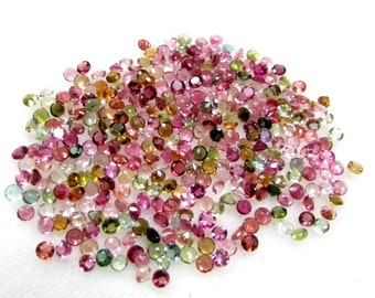 2.50 mm (25 pcs Or 50 pcs ) Natural MULTI TOURMALINE Round Faceted  AAA Quality gemstone.....