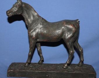 Antique Hand Made Metal Horse Figurine