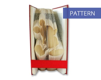 Folded Book Art Pattern - Standing Mickey Mouse - 160 Folds - Bookfolding Pattern - Folded Book Pattern - Book Folding pattern