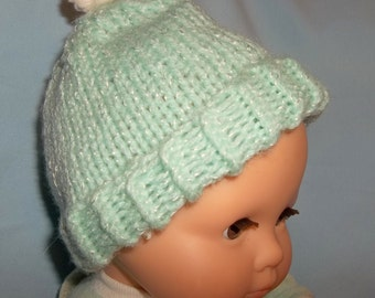 Bitty Baby Mint Green Cap and Booties Set