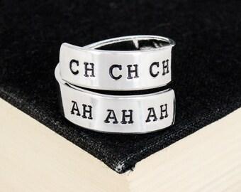 Ch Ch Ch Ah Ah Ah - Voorhees - Horror Movies - Aluminum Wrap Ring