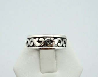 Vintage Celtic Design Solid Sterling Silver Band Ring  #CELTIC-SR1