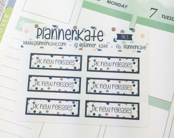 PK-3 || PlannerKate NEW RELEASE Reminder Stickers