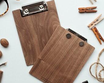 Blank Wood Clipboard, Mini Walnut Clipboard, Office Clipboard, Notepad Clipboard