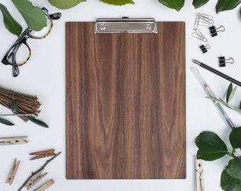 Wooden Clipboard. Ready to Ship / WALNUT, Office Clipboard