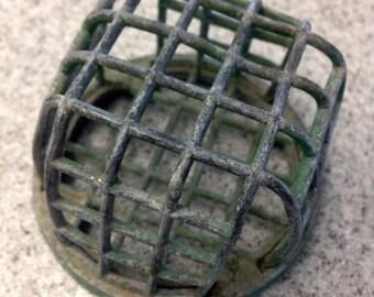 Vintage Metal Cage Flower Frog