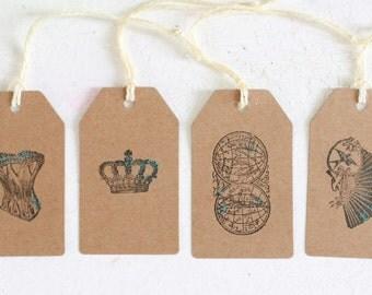 Kraft Steampunk hand made gift tags