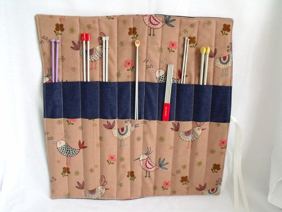 Knitting Needle Storage Roll : Knitting needle roll organizer