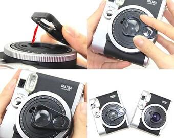Selfie Lens Mirror Color Filter Purple for Fujifilm Instax Mini 90 Camera