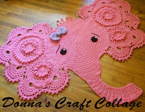Crochet Elephant Rug Free Pattern : Crochet Elephant Rug Elephant throw rug Elephant Nursery