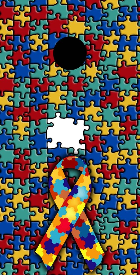 Autism Awareness Themed Cornhole Board Prints Wraps Corn