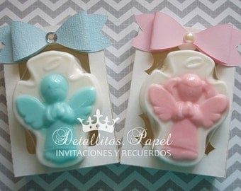 Baby shower favors, Baptism Favors, Angel favors, Soaps Angel favors