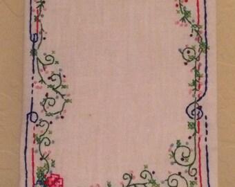 Embroidered Rose Frame
