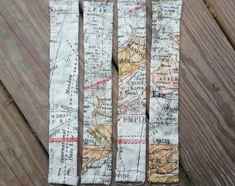 World map printed pacifier clip, baby shower gift idea, ready to ship!