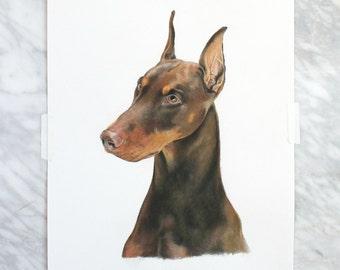 Large Custom Dog Portrait Painting