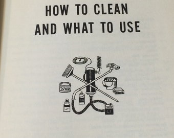 """Vintage How-To Book, """"How To Clean Everything"""", 1961 Hardcover."""